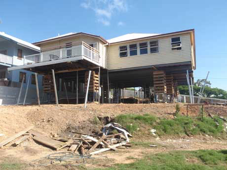 On-going house raising and restumping