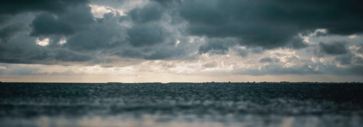 dark beach clouds