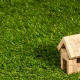 Wooden house on the grass